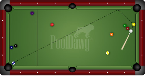 Diagram 4: Two Way Shot For 10-Ball