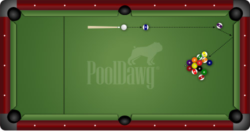 Diagram 6: Two Way Shot For Straight Pool