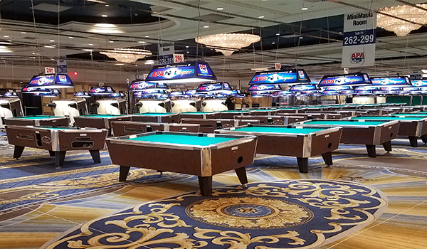 APA World Pool Championships pool tables