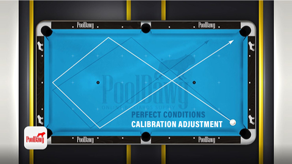 Most tables are not perfect and require making adjustments to your aim, either above or below the third diamond, in order to hit the corner pocket.