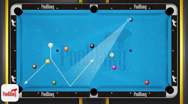 The easiest shot on the one also has the narrowest pie-shaped zone where a shot on the two can be made.