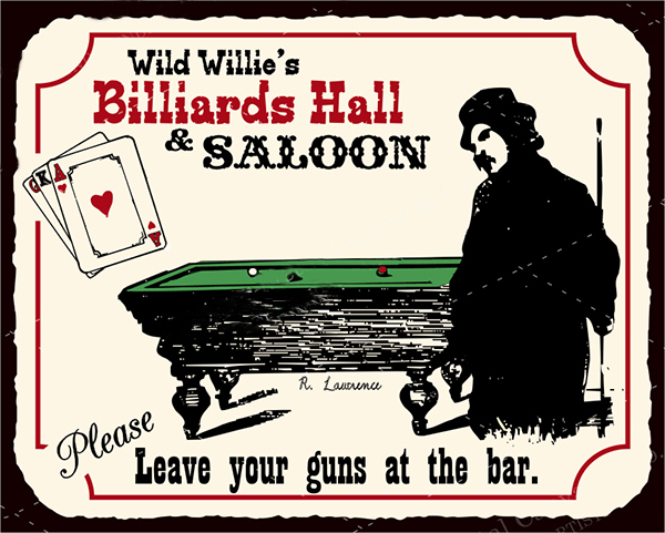 Old Billiards Sign