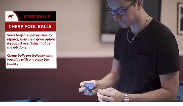 Inexpensive pool ball sets