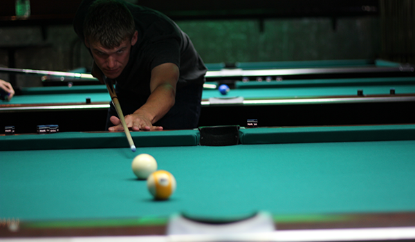 Controlling nerves during a pool tournament