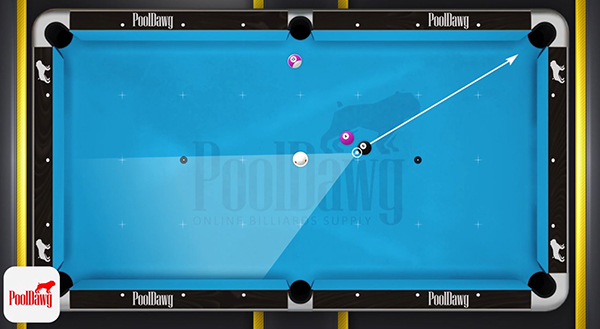 Florian pie-shaped zone for good position on the 8 ball is quite large, but the 4 ball's proximity to the 8 will make his shot on the 8 more difficult.