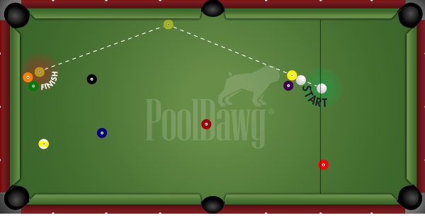 Playing a safety in pool to create a runout