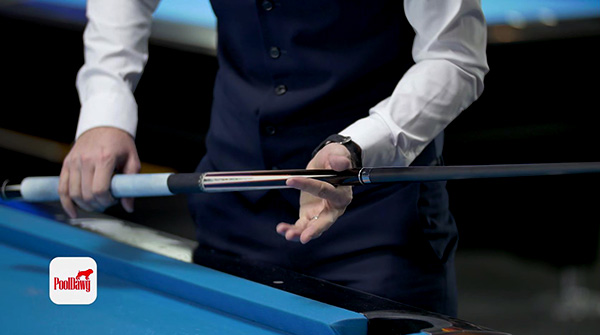 a loose grip in the center of the cue will help power your stroke