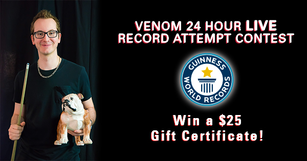 Venom's LIVE 24 Hour World Record Attempt Contest