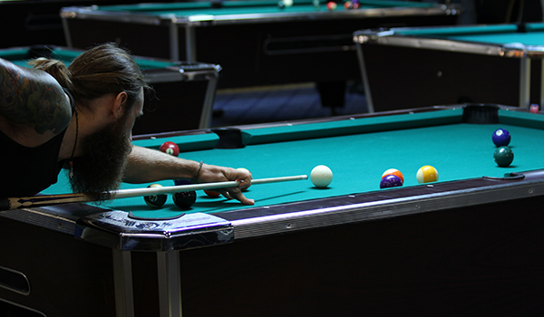 Billiard match focus