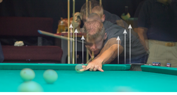 Billiards Standing Up During Stroke