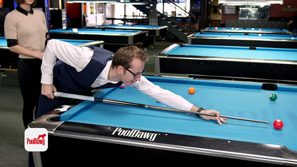 Long shots require a grip near the end of the cue, and a long bridge length