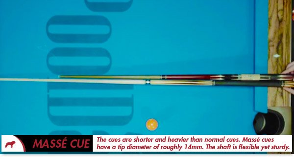 Massé Cue Vs Regular Cue