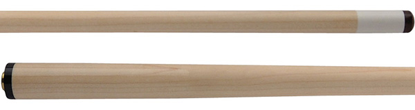 A nice, Hard Rock Maple shaft is pictured. This represents the typical look of a pool cue shaft.