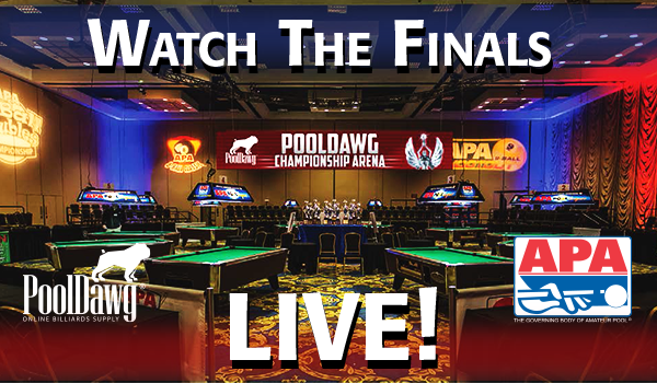 Watch the APA Poolplayer Championship Finals LIVE! Streaming Video Presented by PoolDawg