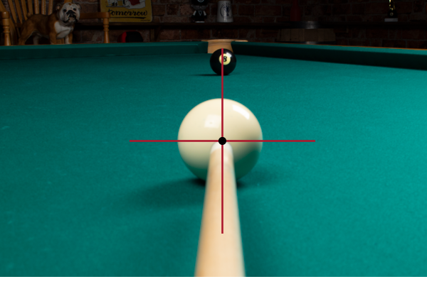 Straight-In Pool Shot Aim