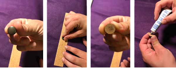 Attaching a pool cue tip