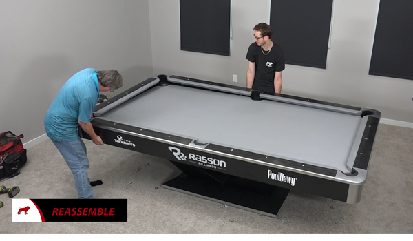 Reassembling A Pool Table Top