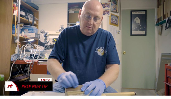 Prepping a Pool Cue Tip