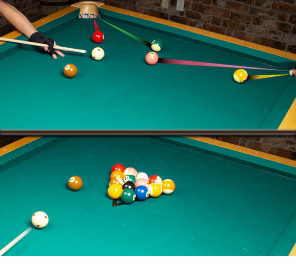 Straight pool billiard game sequence