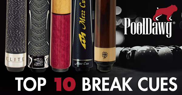 Top 10 Break Cues Header Image