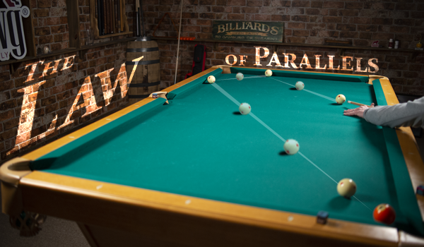 The Law of Parallels For Two Rail Kicks Pool Cues and