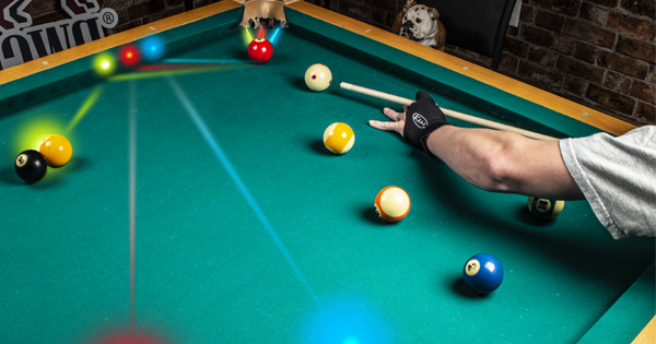 Using the pool table pocket to set up your next shot