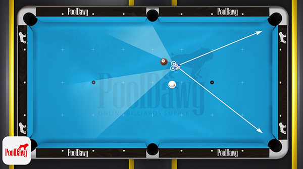 Florian describes his shot options for the seven ball, and chooses the largest pie-shaped diagram for his position on the 10 ball.